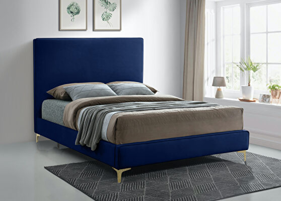 Velvet fabric casual design stand-alone bed