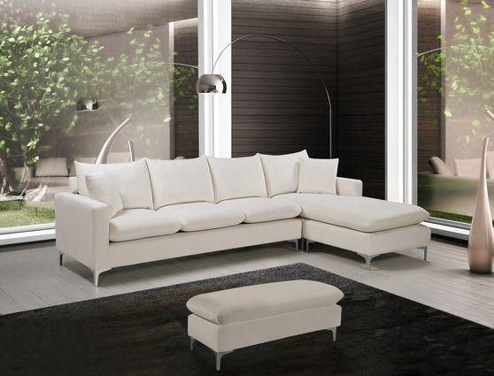 Contemporary velvet reversible sofa