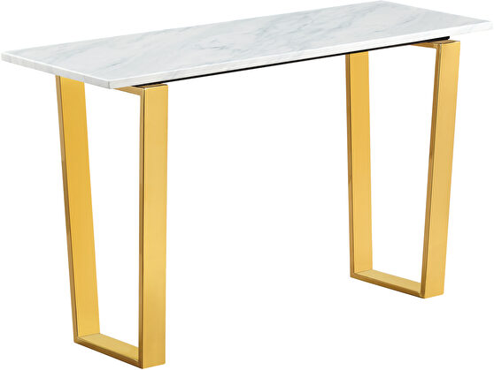 White marble / gold base console table