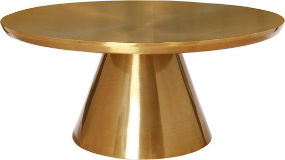 All gold round glam style coffee table