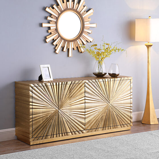 Gold glam style buffet / server