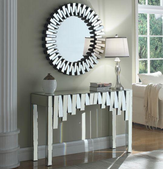 Modern mirrored display unit w/ optional mirror