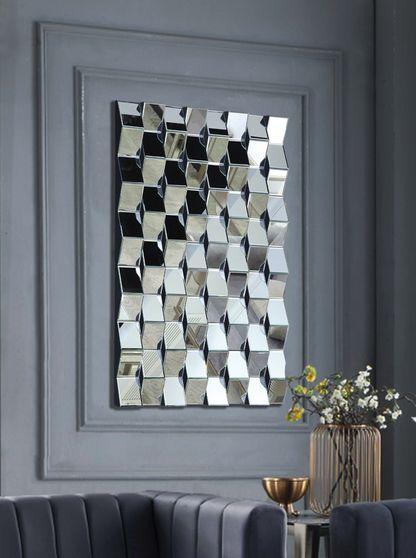 Geometric shape contemporary wall mirror