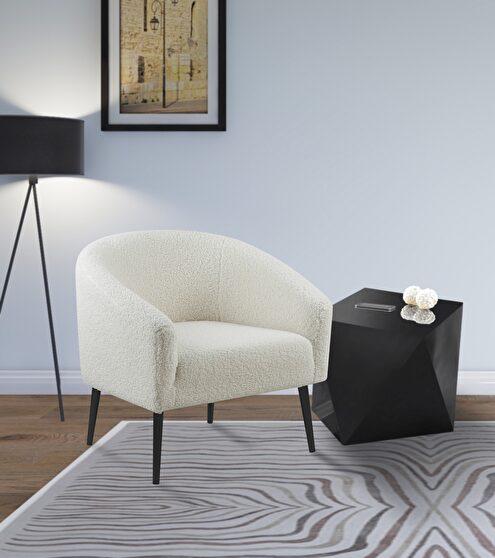 Faux sheepskin fur chair w/ black legs