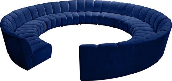12 pcs navy blue velvet modular sectional sofa