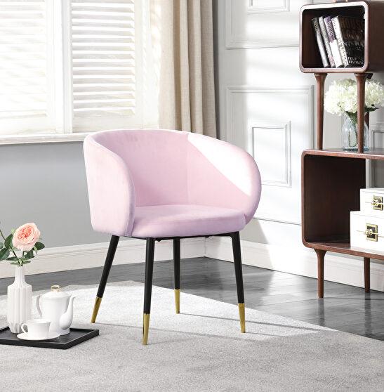 Elegant stylish glam style velvet / gold dining chair