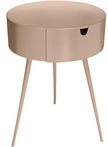Pink contemporary round side table / night stand