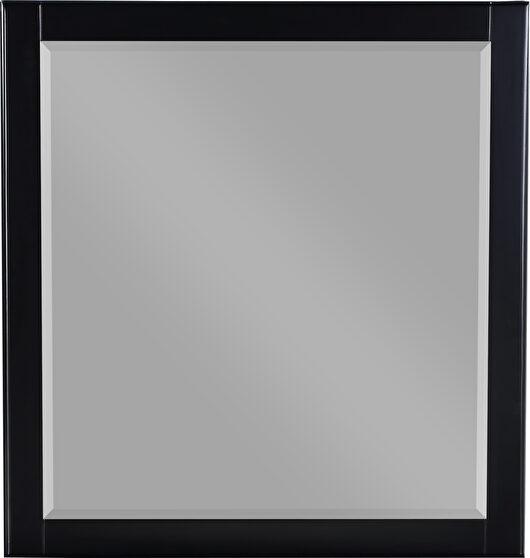 Contemporary black frame mirror