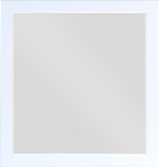 Contemporary white frame mirror
