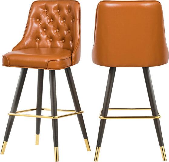 Faux leather stylish bar stool