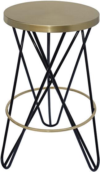 Black / gold round stylish bar stool