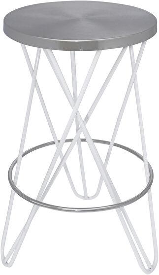 Black / silver round stylish bar stool