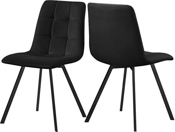 Velvet contemporary dining chair pair