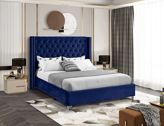 Modern diamond shape tufted headboard bed