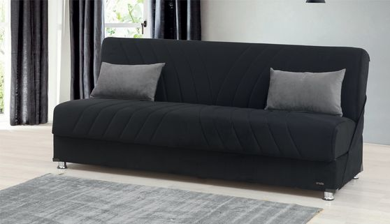 Black sofa bed w / storage