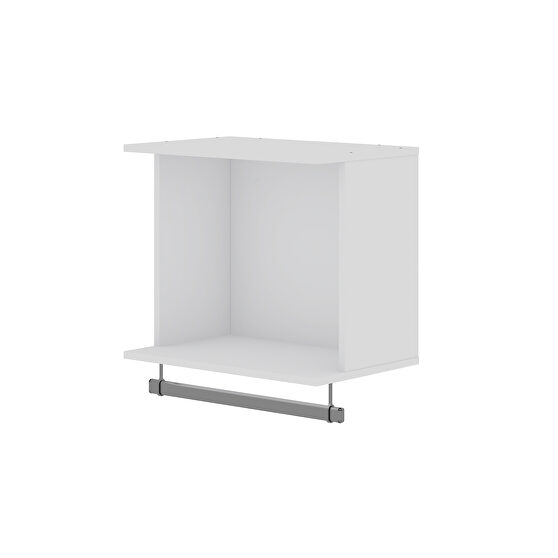 20.8 open floating hanging closet with shelf and hanging rod in white