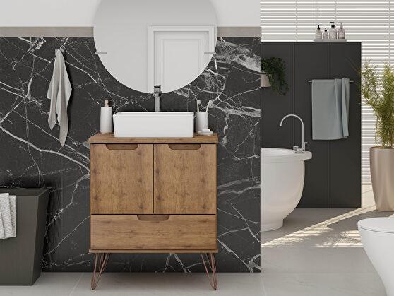 Bathroom vanity sink 1.0 with metal legs in nature