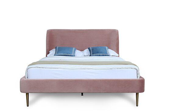 Mid century - modern full bed in blush