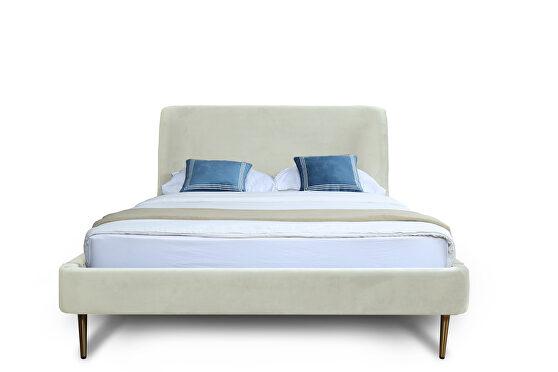 Mid century - modern full bed in cream
