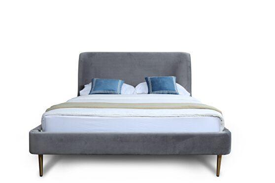 Mid century - modern full bed in gray