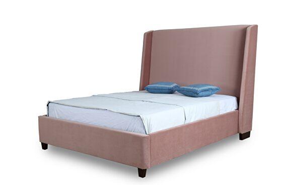 Luxurious blush velvet full bed