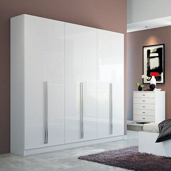 4- drawer he/she freestanding armoire in white gloss