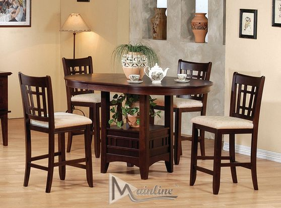 Oval gathering 5pcs counter height set
