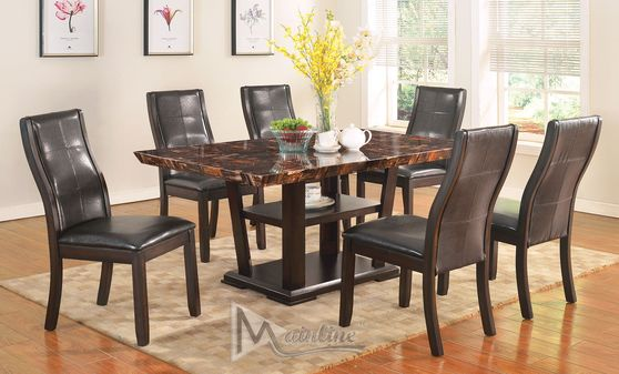 Modern affordable dining table in brown