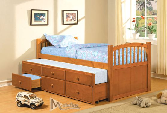 Wood twin size daybed w/ trundle