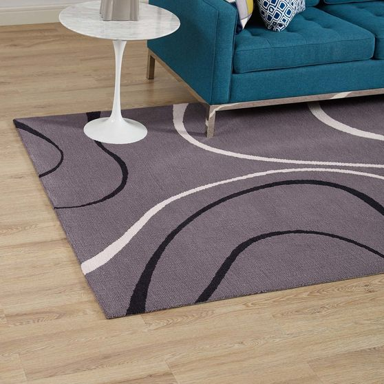 Abstract swirl area rug