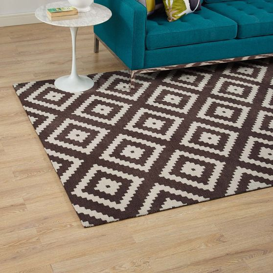 Abstract diamond 5x8 area rug