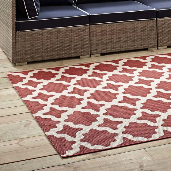 Indoor/outdoor moroccan trellis 8x10 area rug