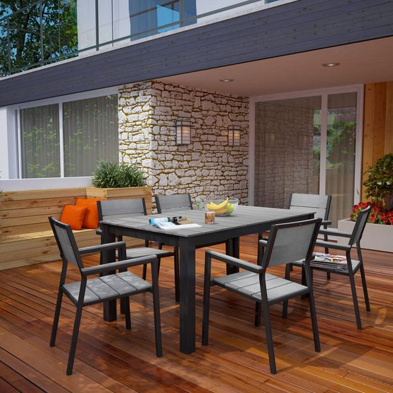 Outdoor 7pcs dining table + chairs set