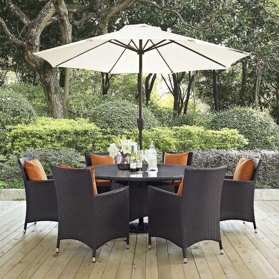 8PCS outside/patio round dining set