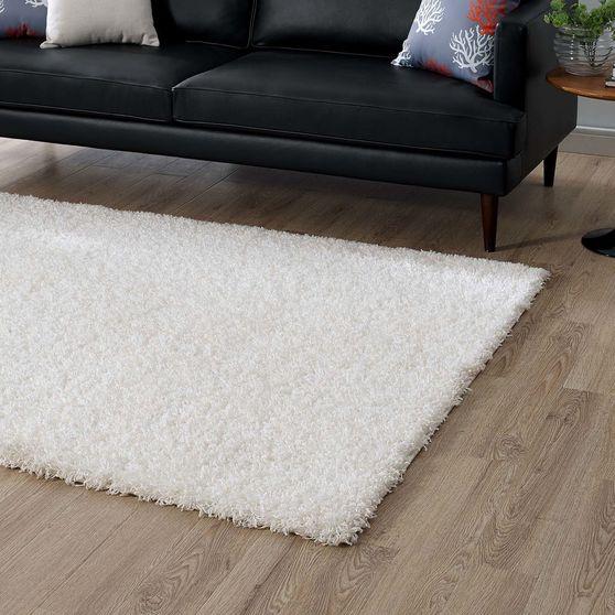 Contemporary solid 5x8 shag rug