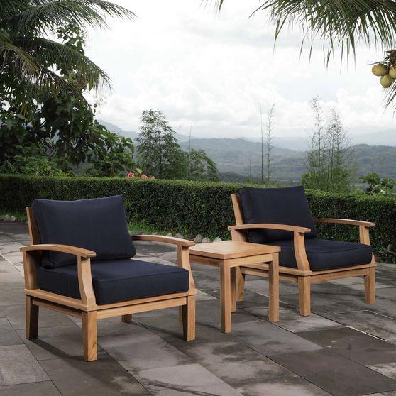 3 pcs outside / patio set in natural teak