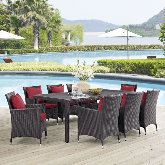 9 piece outside / patio table and chairs set