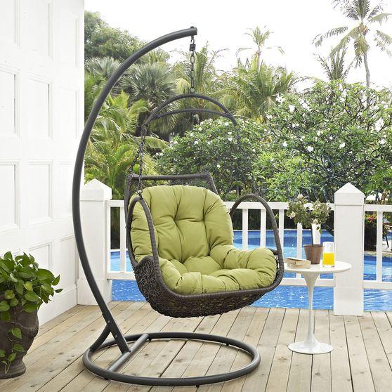Wood swing outside / patio chair