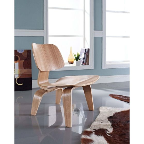 Plywood lounge casual style chair in natural