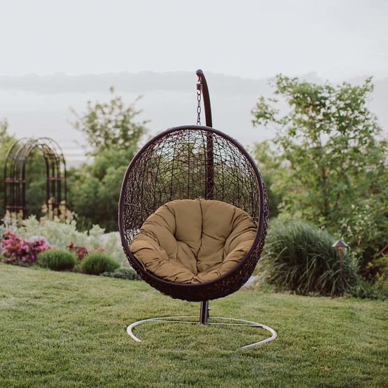 Outside / patio swing chair w/ stand set