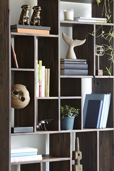 Contemporary shelf solid walnut large