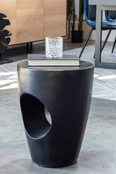 Contemporary outdoor stool black