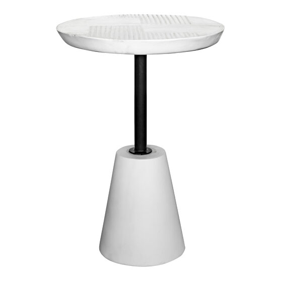 Contemporary outdoor accent table white