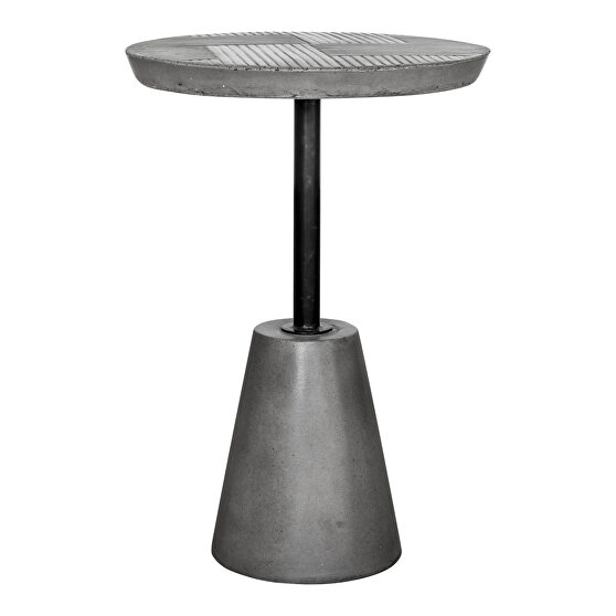 Contemporary outdoor accent table gray