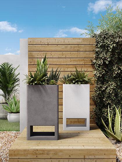 Contemporary planter ivory terrazzo