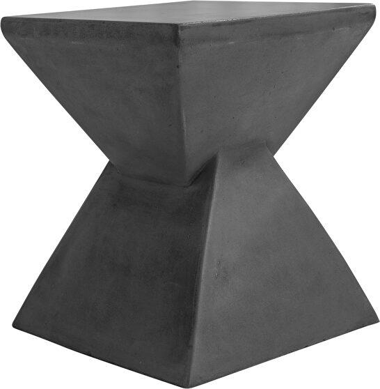 Contemporary concrete stool lava gray