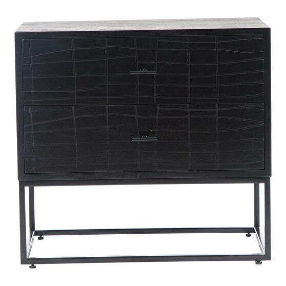 Contemporary nightstand black