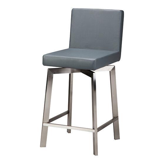 Contemporary swivel counter stool gray