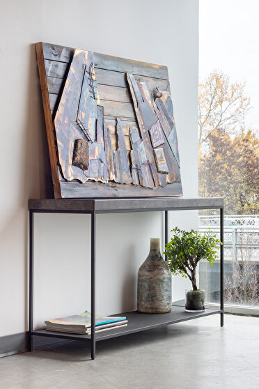 Contemporary marble console table