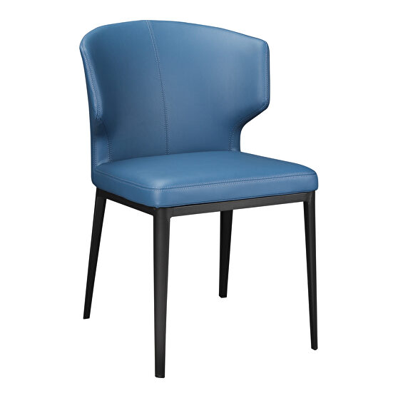 Contemporary side chair steel blue-m2